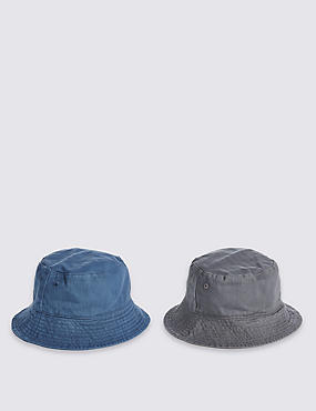 Kids' 2 Pack Pure Cotton Hats