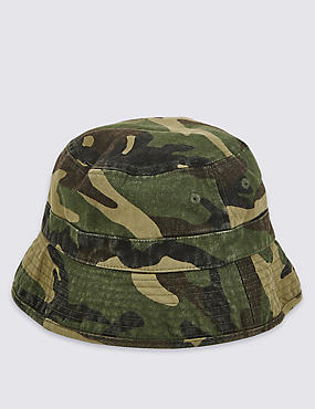Kids' Pure Cotton Camouflage Print Summer Hat