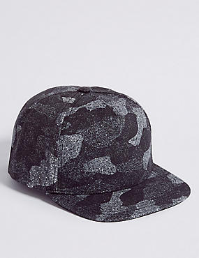 Kids' Pure Cotton Camouflage Baseball Cap (3 - 14 Years)