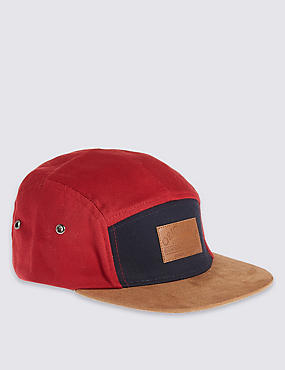 Kids' Pure Cotton Panel Detail Hat