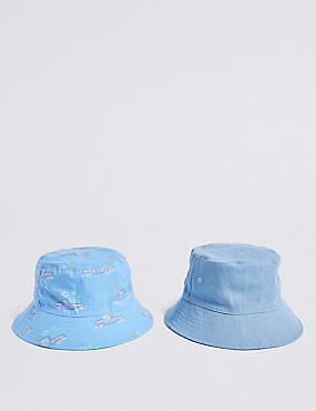 Kids' 2 Pack Reversible Hats (3 Months - 6 Years)