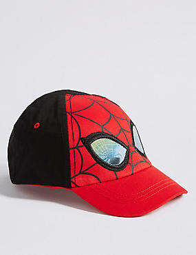 Kids' Pure Cotton Spider-Man™ Hat (6 Months - 6 Years), RED MIX, catlanding