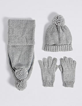Kids' Hats & Scarves with Gloves Sets