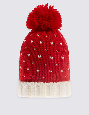 Kids' Heart Pom Hat