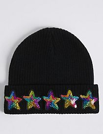 Kids' Star Sequin Beanie