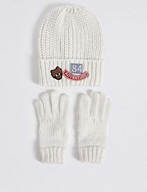 Kids' Hat & Gloves Set