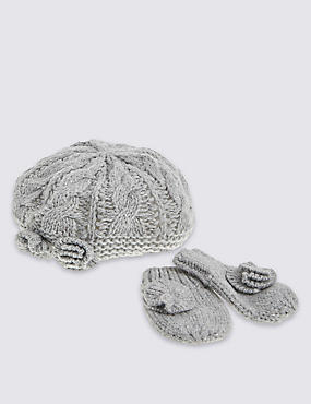 Kids' Beret Hat & Gloves Sets