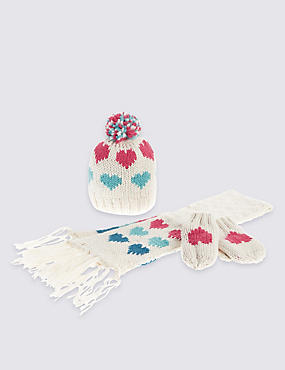 Kids' Hat, Scarf & Gloves Set