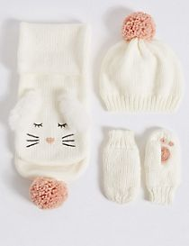 Kids' Hat, Scarf & Mittens Set