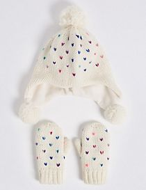 Kids' Trapper Hat & Mittens