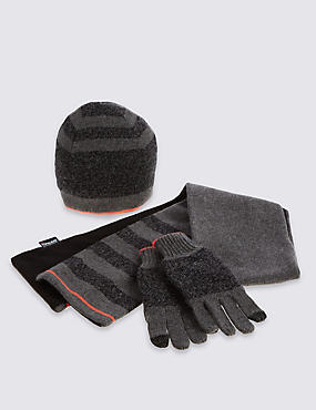 Kids' Hat, Scarf & Gloves Set with Wool