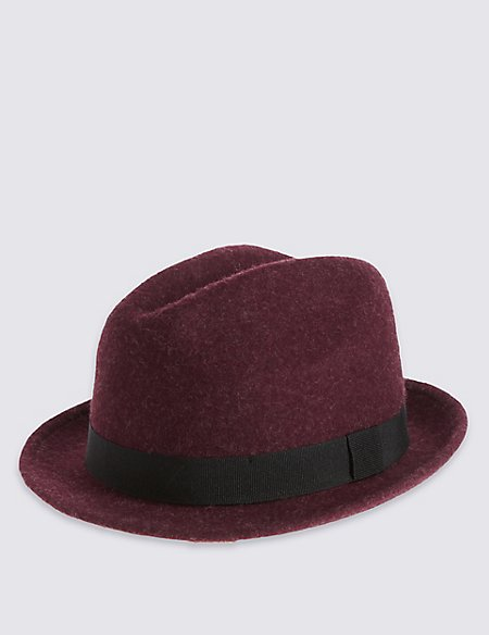 Kids' Pure Wool Trilby Hat