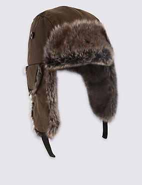 Kids' Wax Faux Fur Trapper Hat with Thinsulate™