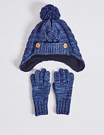 Kids' Hat & Glove Set