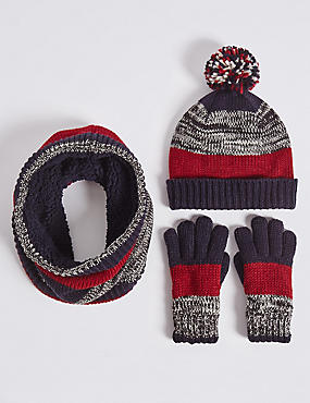 Kids' Hats & Scarves with Gloves Set