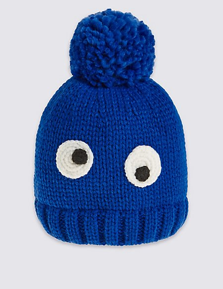 Kids' Eye Pom Hat
