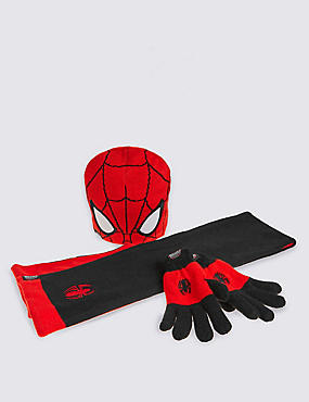 Kids' Spider-Man™ Hat, Scarf & Gloves Set