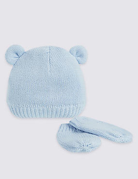 Kids' Pure Cotton Hat & Gloves sets