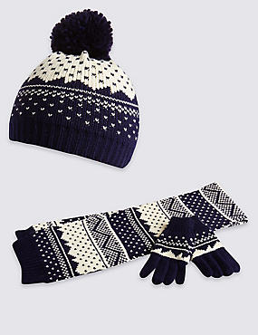 Kids' Hats, Scarf & Gloves Set