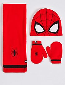 Kids' Spider-Man™ Hat, Scarf & Mittens Set