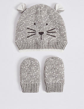Baby Hat & Mittens Set