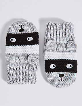 Kids' Animal Print Mittens