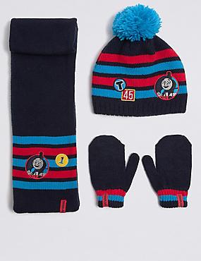 Kids' Thomas & Friends™ Hat & Scarf with Mittens Set, BLUE MIX, catlanding
