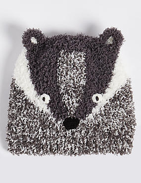Kids' Novelty Badger Hat (3 Months - 6 Years), CHARCOAL MIX, catlanding