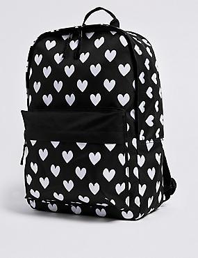 Kids' Water Repellent Backpack, BLACK MIX, catlanding