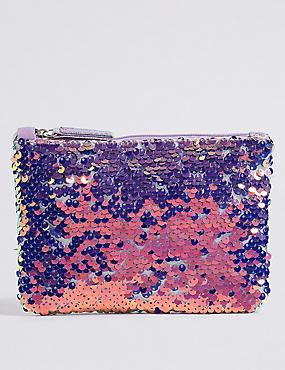 Kids' Sequin Phone Bag, PURPLE MIX, catlanding