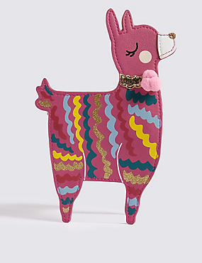 Kid's Llama Cross Body Bag, PINK MIX, catlanding