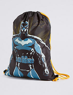 Kids' Batman™ Drawstring Rucksack, BLACK MIX, catlanding