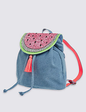 Kids' Pure Cotton Watermelon Rucksack