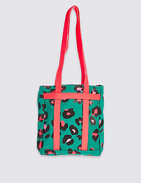 Kids' Pure Cotton Printed Shopper Bag