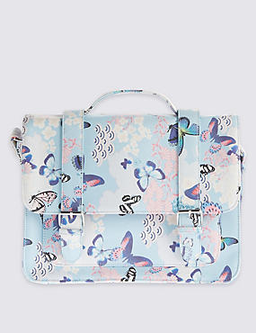 Kids' Butterfly Print Satchel Bag