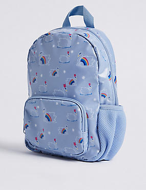 Kids' Swan Print Backpack, MULTI, catlanding