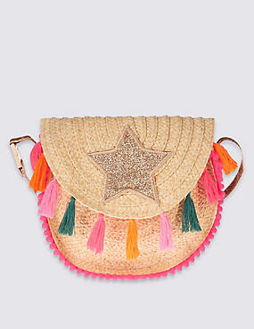 Kids' Tassel Cross Body Bag