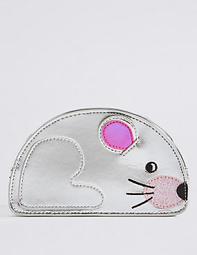 Kids' Faux Leather Mouse Cross Body Bag