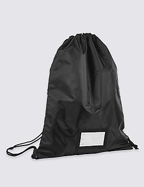 Kids' Back to School Drawstring Backpack, BLACK, catlanding
