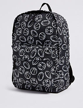 Kids' Sports Backpack, BLACK MIX, catlanding