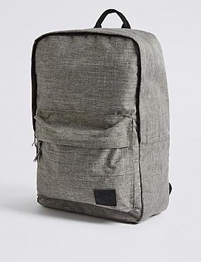Kids' Textured Backpack, GREY, catlanding