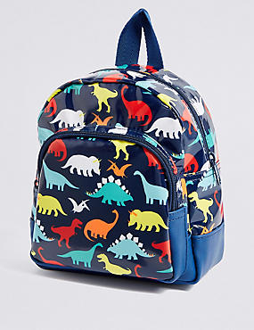 Kids' Mini Dinosaur Print Backpack, NAVY MIX, catlanding