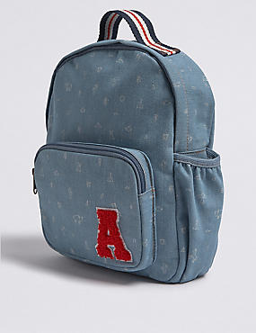 Kids' Pure Cotton Backpack, BLUE MIX, catlanding