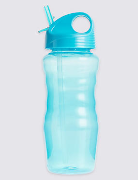 Kids' Clear Blue Water Bottle
