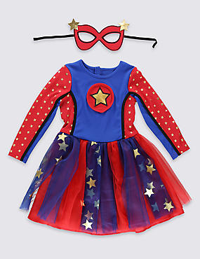 Kids' Super Girl Dress (3-12 Years)