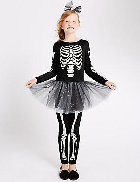 Kids' Skeleton Dress (3-12 Years)