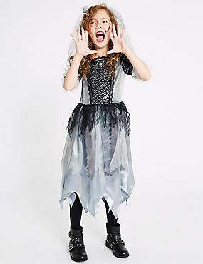 Kids' Zombie Bride Dress Up, GREY MIX, catlanding