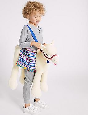 Kids' Llama Ride-on Dress Up, CREAM MIX, catlanding