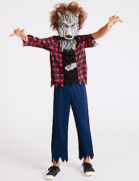 Kids' Werewolf Dress Up, RED MIX, catlanding