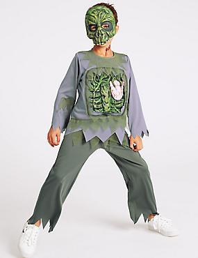 Kids' Zombie Dress Up, GREEN MIX, catlanding